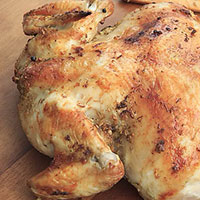 GARLIC AND THYME ROASTED BUTTERFLY CHICKEN